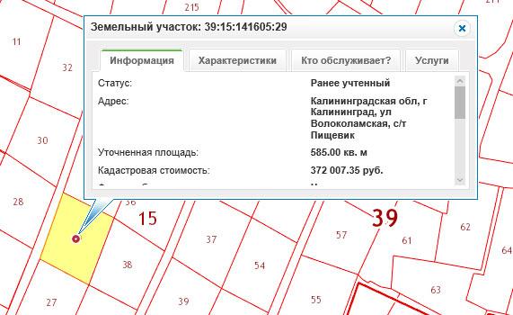 карта план земельного участка образец